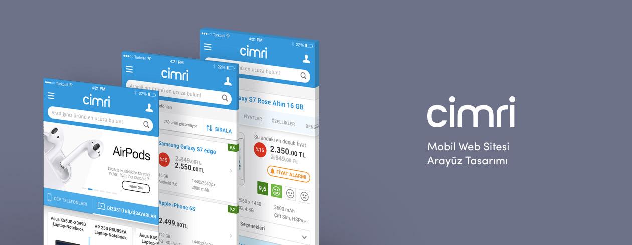 Cimri Mobil Web Sitesi